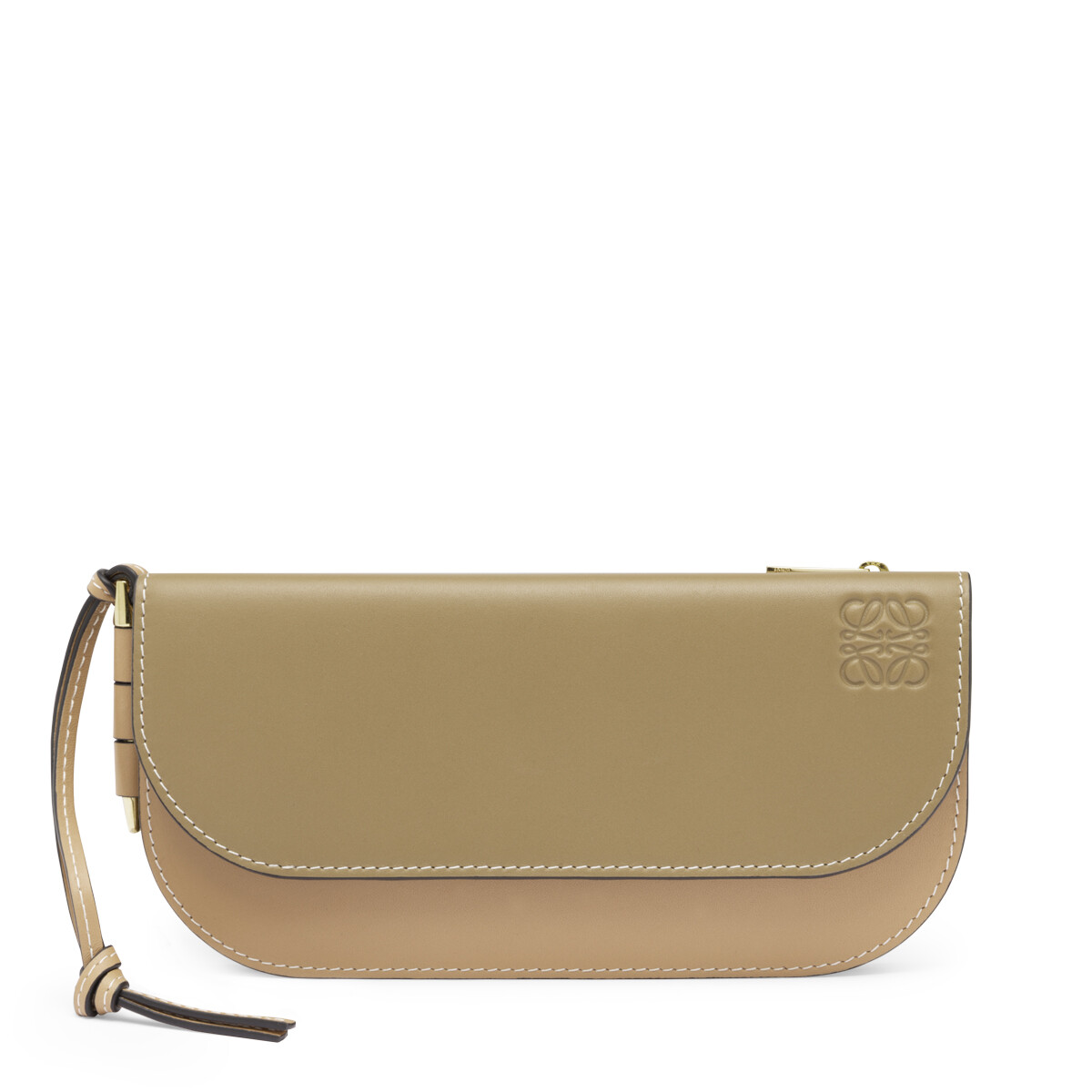 LOEWE Gate Continental Wallet Mocca/Powder front