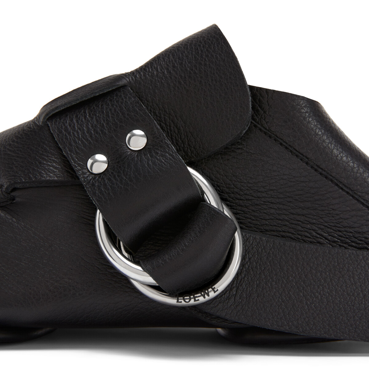 LOEWE Soft Mocassin Rings 黑色 front