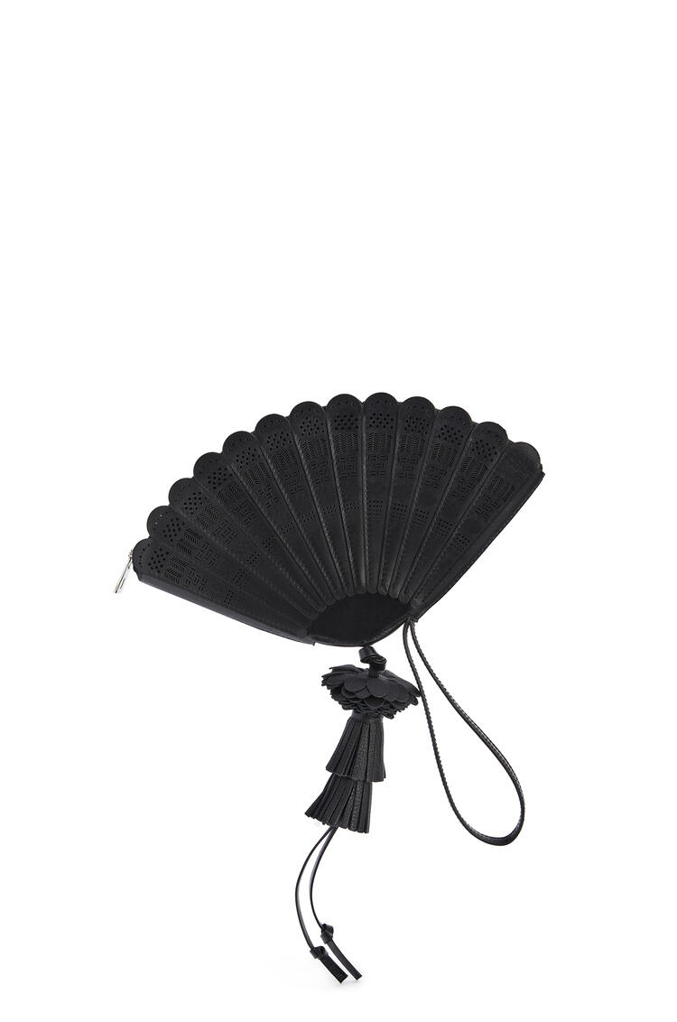 LOEWE Fan Clutch Bag In Box Calfskin 黑色 pdp_rd