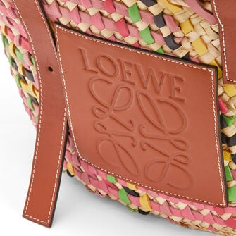 LOEWE Basket Bag Pink Multitone/Tan front