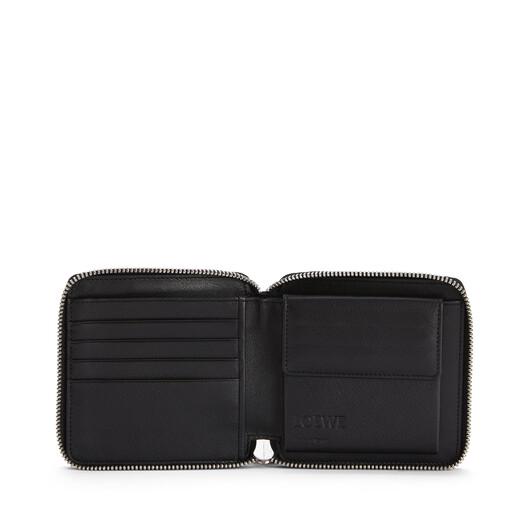 LOEWE Puzzle Square Zip Wallet Dark Lagoon/Black front