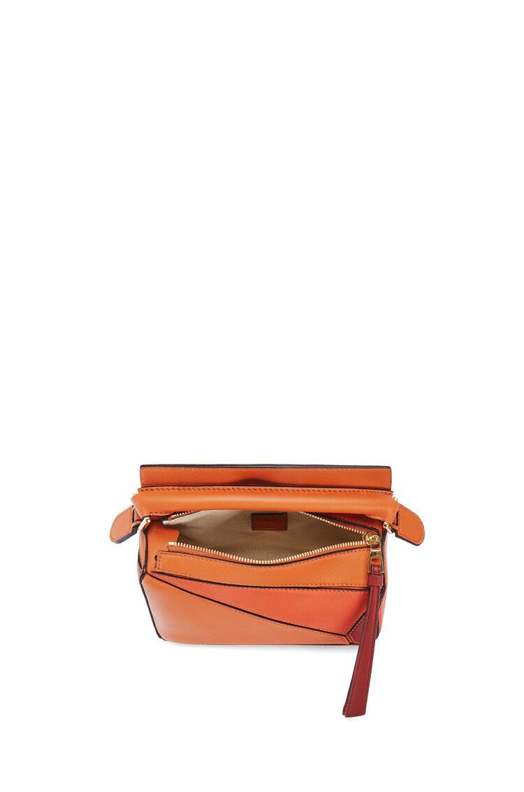 LOEWE 迷你经典牛皮革 Puzzle 手袋 Spice Orange/Pumpkin pdp_rd