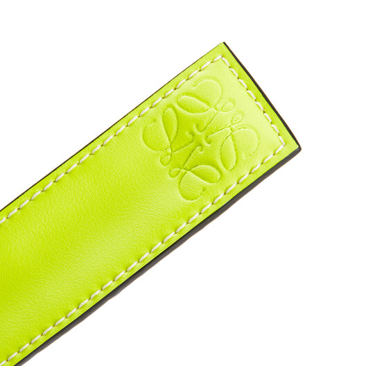 LOEWE Small Slap Bracelet In Classic Calfskin Neon Yellow front