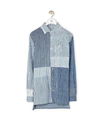 LOEWE Overshirt Blanco/Azul front