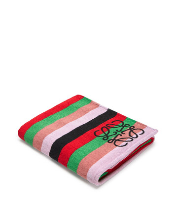 LOEWE 105X170 Towel Stripes Dusty Rose/Raspberry front