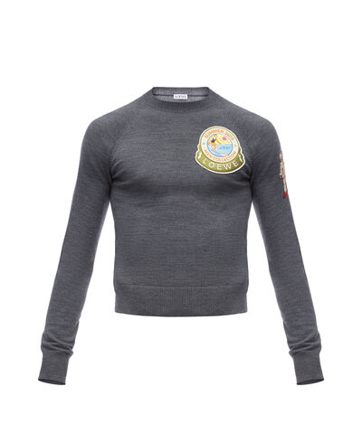 LOEWE Sweater Patches Grey front