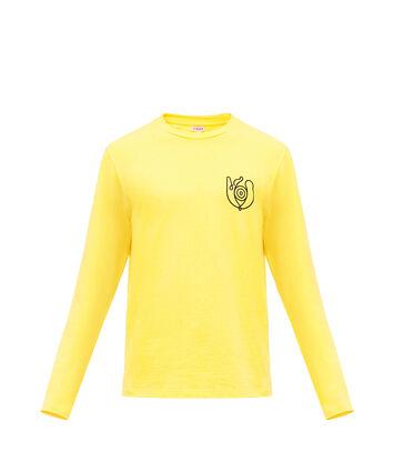 LOEWE Long Sleeve T-Shirt Loewe Eye Amarillo front
