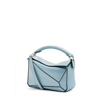 LOEWE Puzzle迷你手袋 淡蓝色 front