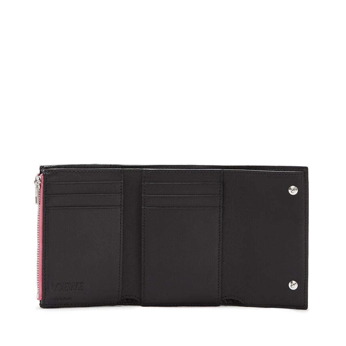LOEWE Small Vertical Wallet Wild Rose/Black all