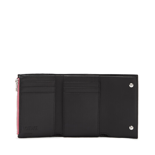 LOEWE Small Vertical Wallet Wild Rose/Black front
