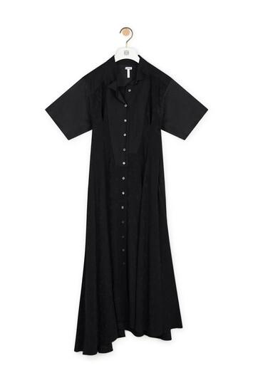 LOEWE Shirtdress Jacquard Black front