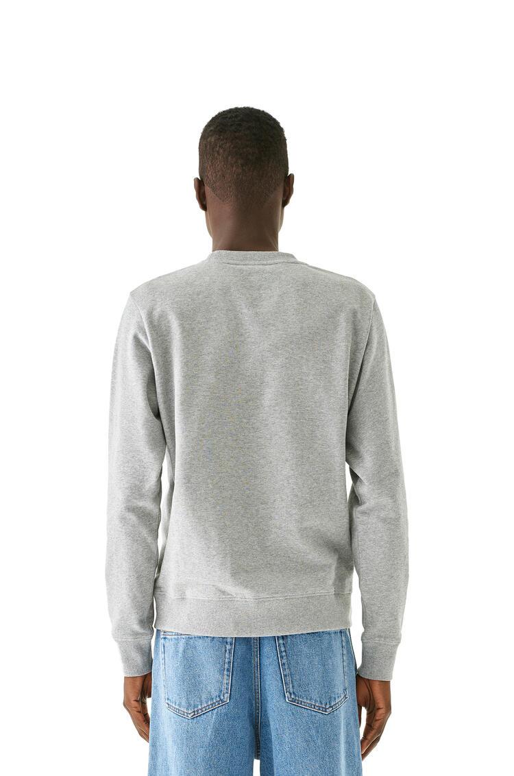 LOEWE Anagram embroidered sweatshirt in cotton 灰色 pdp_rd