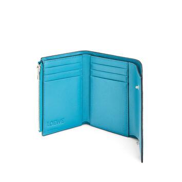 LOEWE Cartera Vertical S Azul Pavo Real front