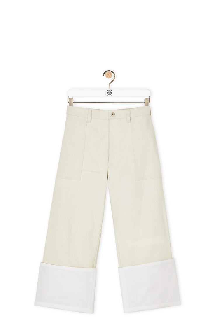 LOEWE Turn up patch pocket trousers in cotton White pdp_rd