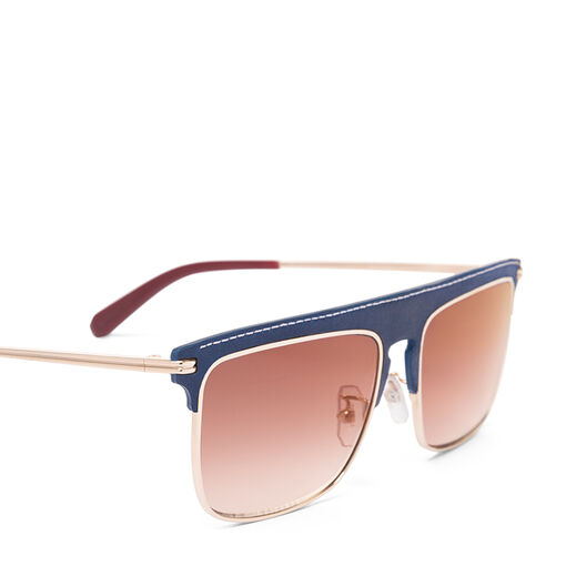 LOEWE Square Sunglasses Dark Blue/Red front