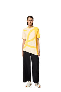 LOEWE Oversize L logo T-shirt in cotton Pale Lime pdp_rd
