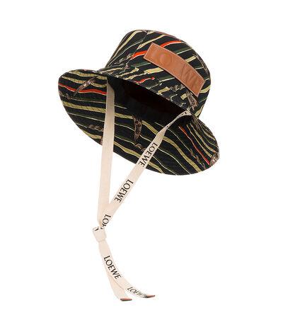 LOEWE Paula Flags Fisherman Hat Black front