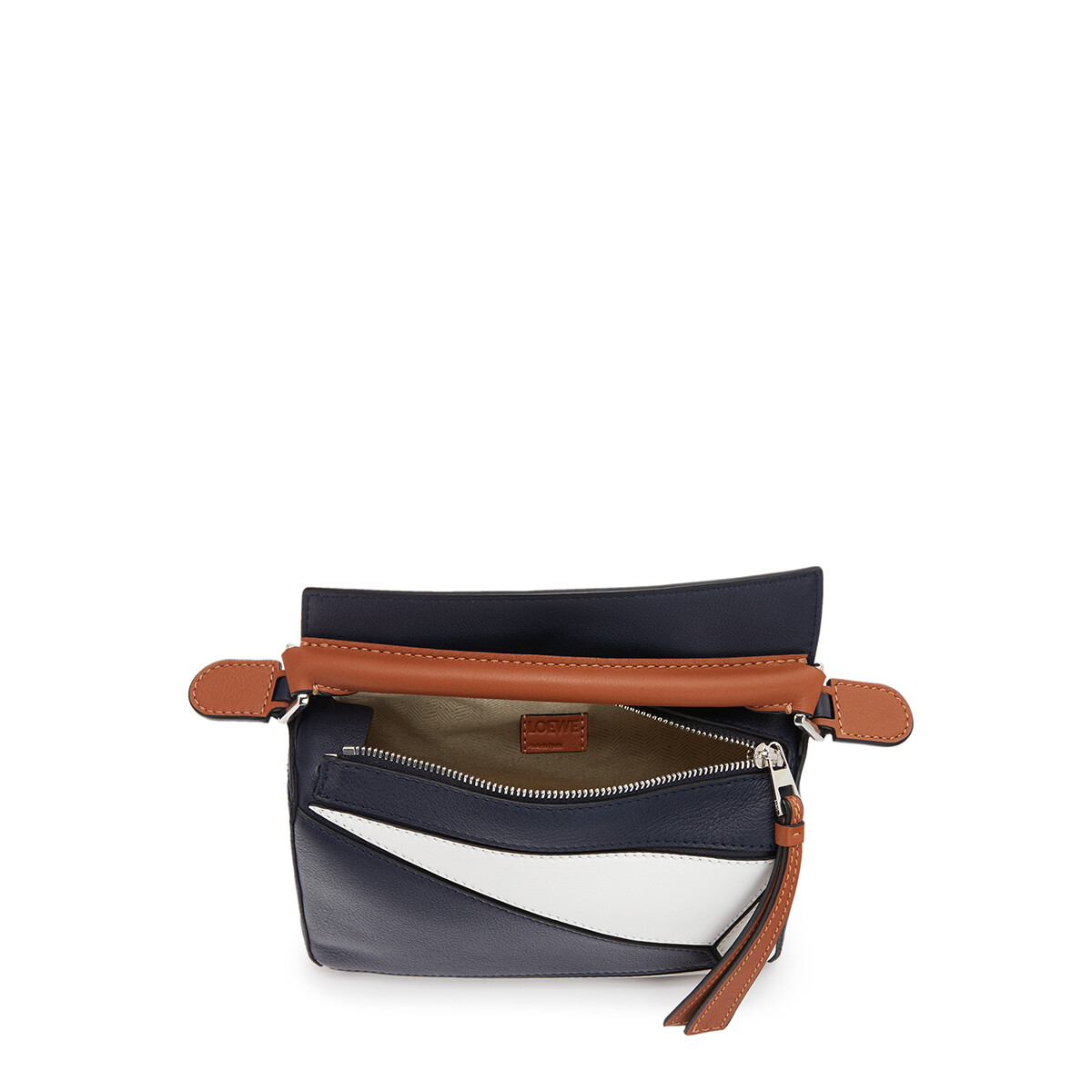 LOEWE Puzzle Sailor Mini Bag Deep Blue/Soft White front