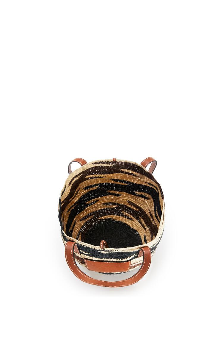 LOEWE シグラ バスケットバッグ (アガベ&カーフスキン ) Natural/Black/Pecan pdp_rd