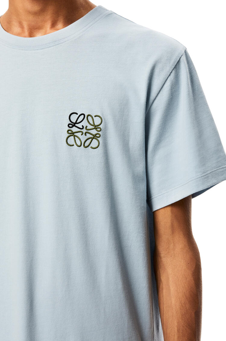 LOEWE Anagram embroidered t-shirt in cotton Baby Blue pdp_rd