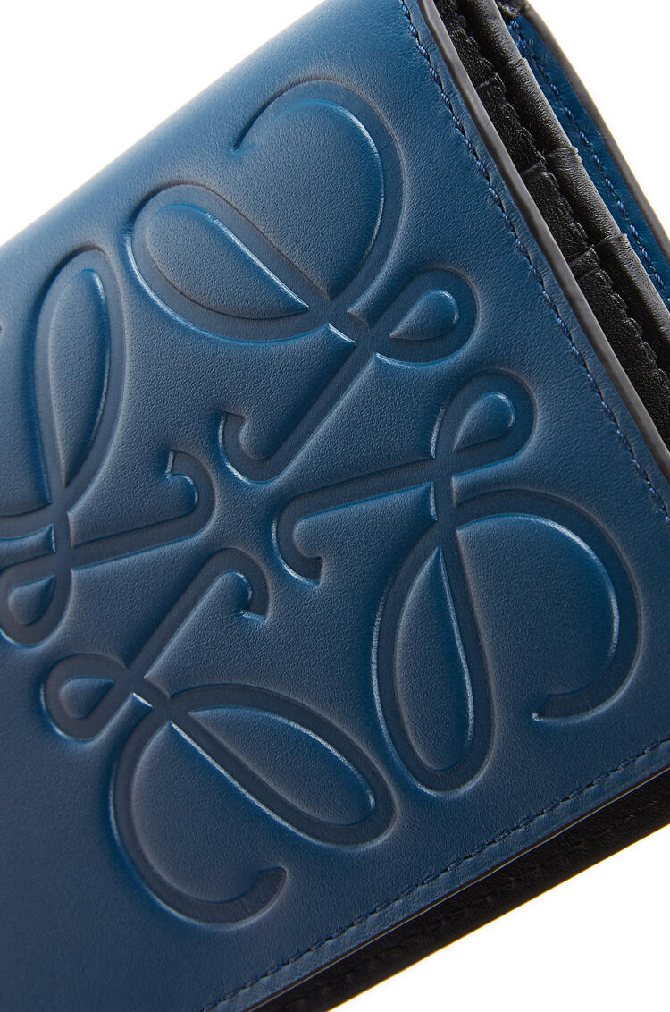 LOEWE Long horizontal wallet in smooth calfskin Indigo pdp_rd