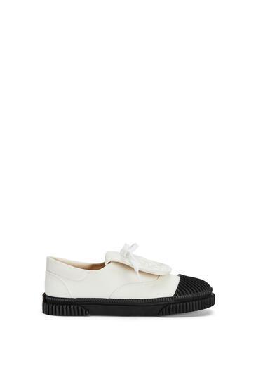 LOEWE 系带帆布运动鞋 绵白色 pdp_rd
