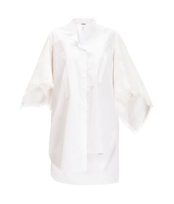 LOEWE アシメトリックシャツケープスリーブ ホワイト front