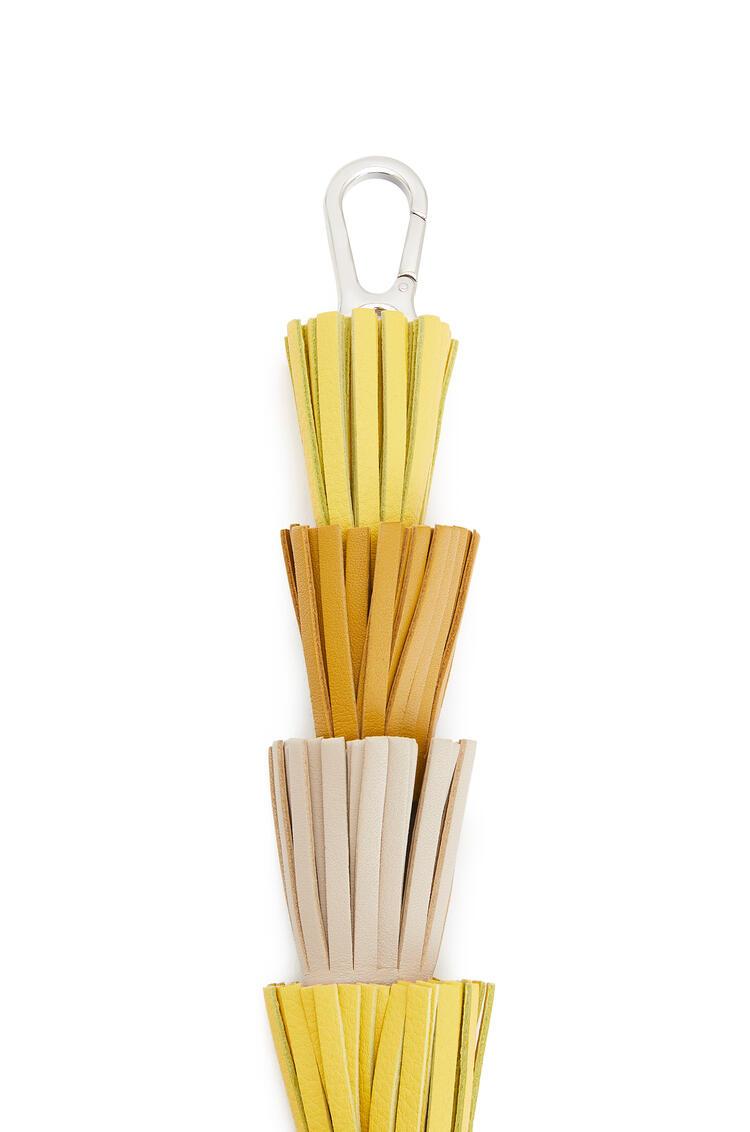 LOEWE Tassels strap in classic calfskin Ochre/Yellow pdp_rd