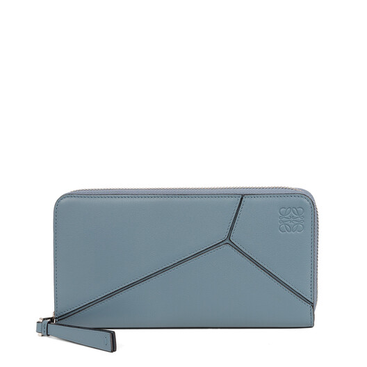 LOEWE Puzzle Zip Around Wallet Stone Blue front