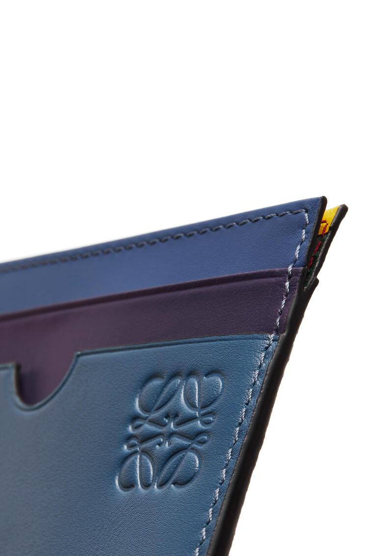 LOEWE Tarjetero plano en piel de ternera suave Azul/Multicolor pdp_rd