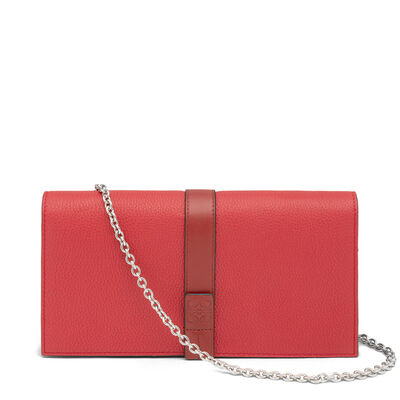 LOEWE Wallet With Chain Scarlet Red/Brick Red front