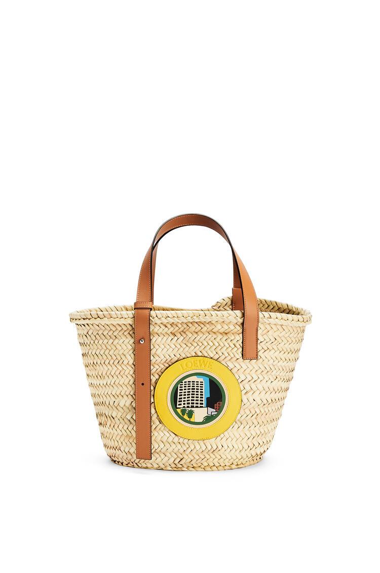 LOEWE L.A. シリーズ バスケットバッグ (ヤシの葉&カーフ) Natural/Multicolor pdp_rd