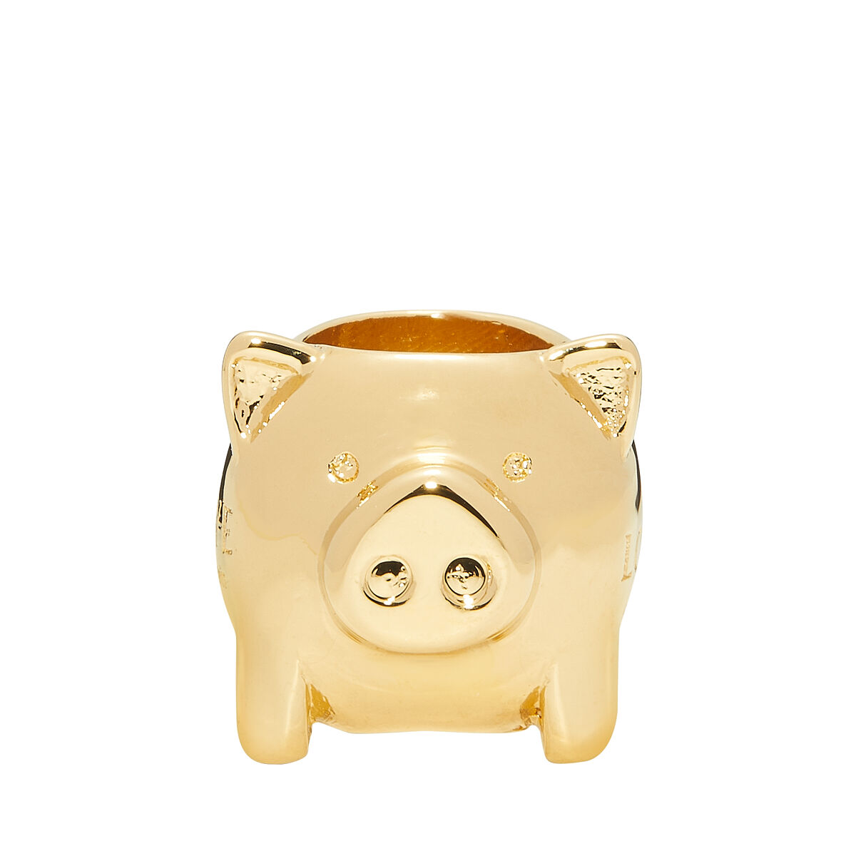 LOEWE Animal Small Dice Gold front