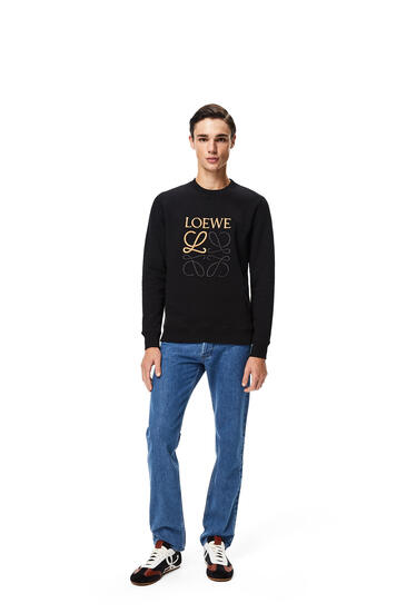 LOEWE LOEWE anagram embroidered sweatshirt in cotton Black pdp_rd