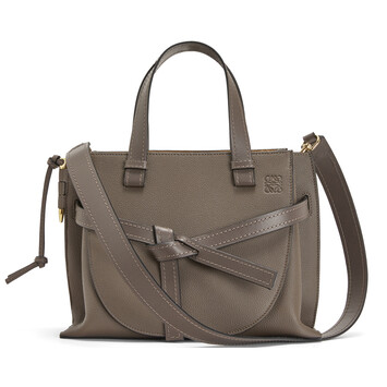 LOEWE Gate Top Handle Small Dark Taupe front