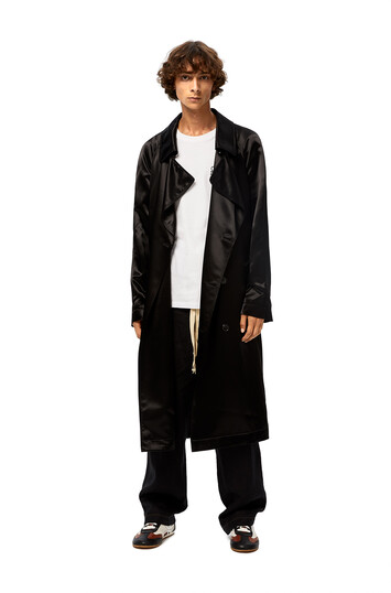 LOEWE Satin Coat Black front