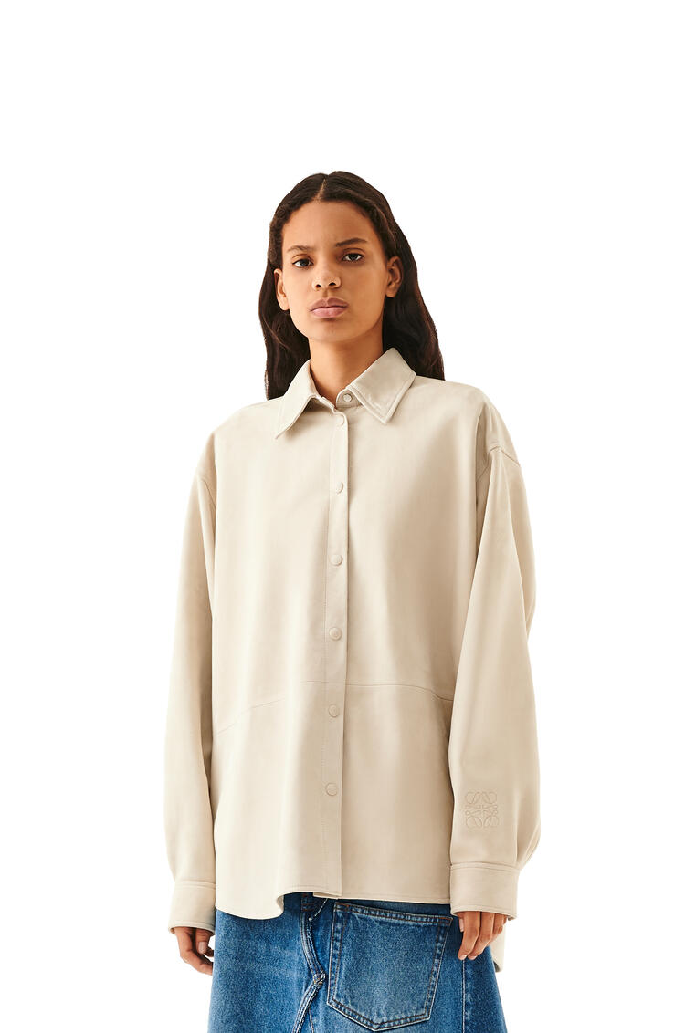 LOEWE Oversize shirt in suede Ivory pdp_rd