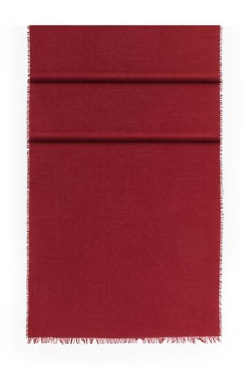 LOEWE 70X200 Scarf Anagram Damier Dark Red front