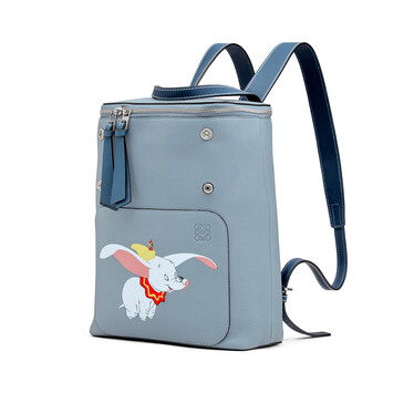 LOEWE Goya Dumbo Small Backpack Stone Blue front
