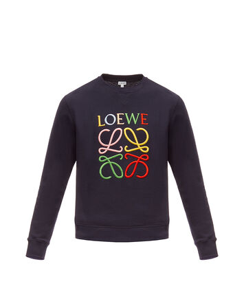LOEWE Anagram Sweatshirt Navy Blue/Multicolor front