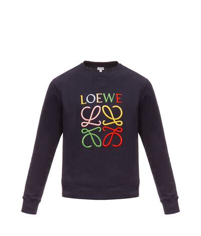 LOEWE Anagram Sweatshirt Marino/Multicolor front