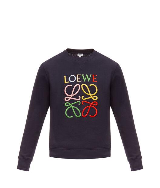 LOEWE アナグラムスウェットシャツ ネイビーブルー/マルチカラー front