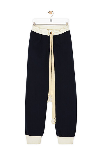 LOEWE Track Trousers Navy Blue front