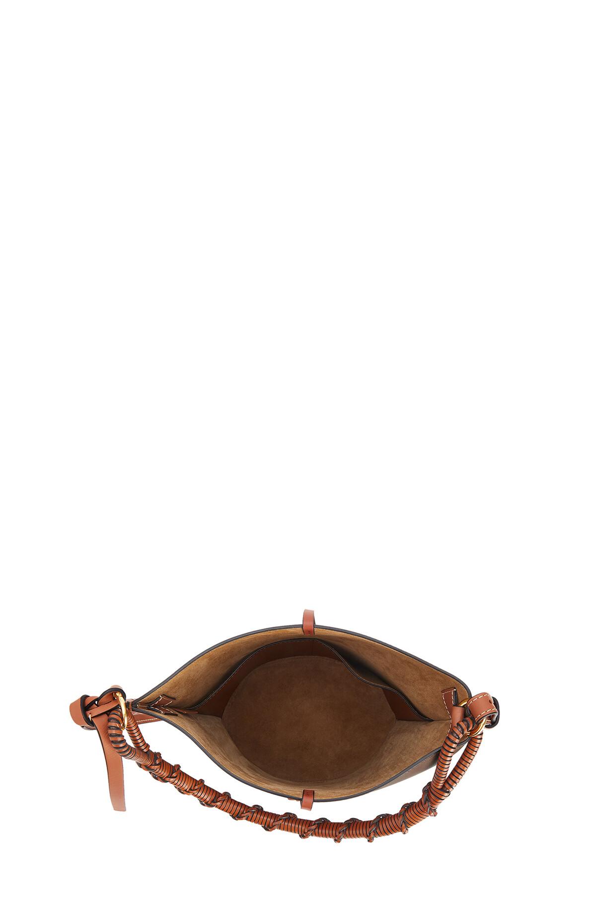 LOEWE Gate Bucket Handle Dark Taupe front