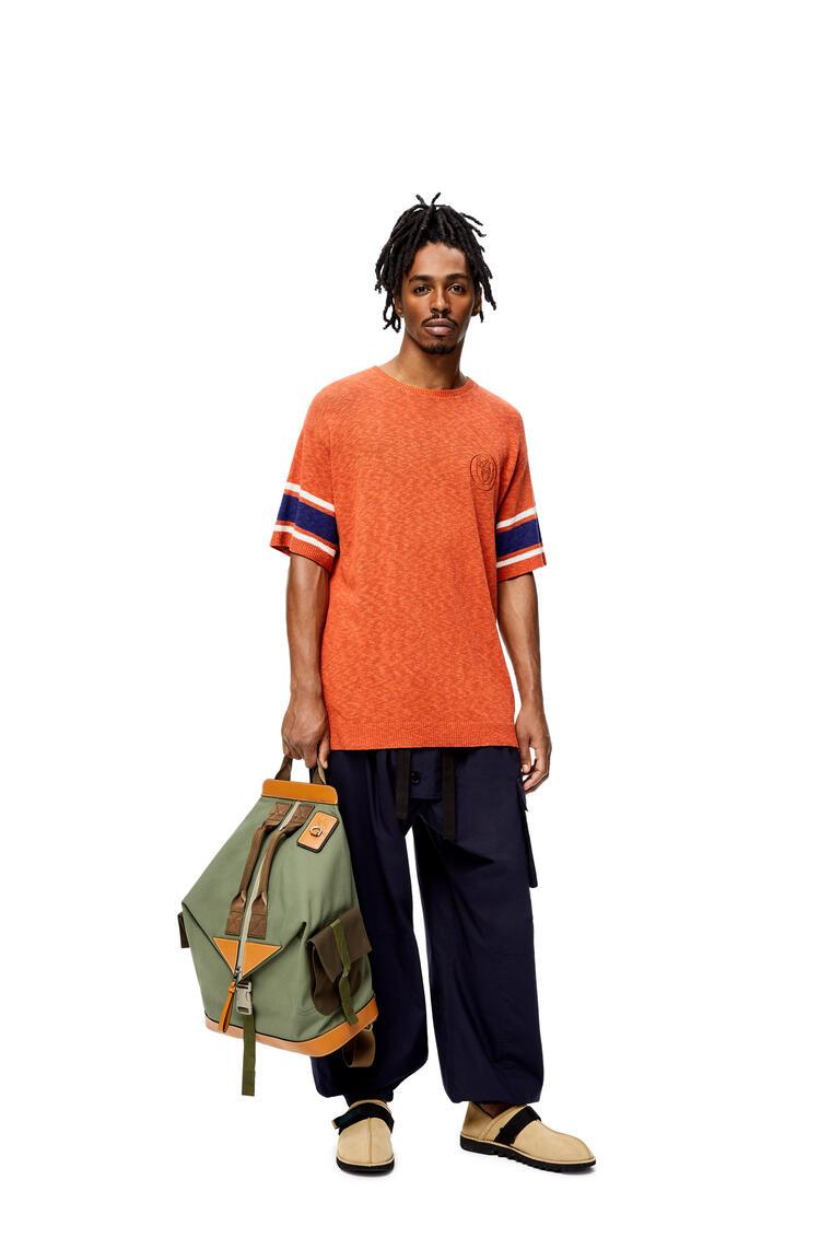 LOEWE Convertible backpack in canvas Khaki Green pdp_rd