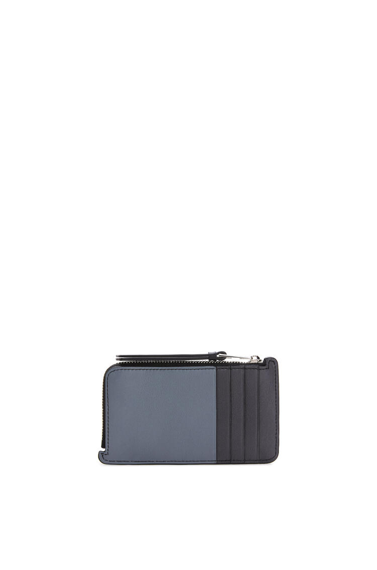 LOEWE Puzzle coin cardholder in classic calfskin Ochre Green/Storm Blue pdp_rd