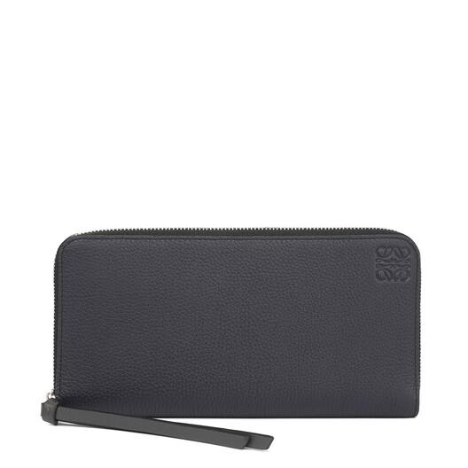 LOEWE Zip Around Wallet Midnight Blue/Black front