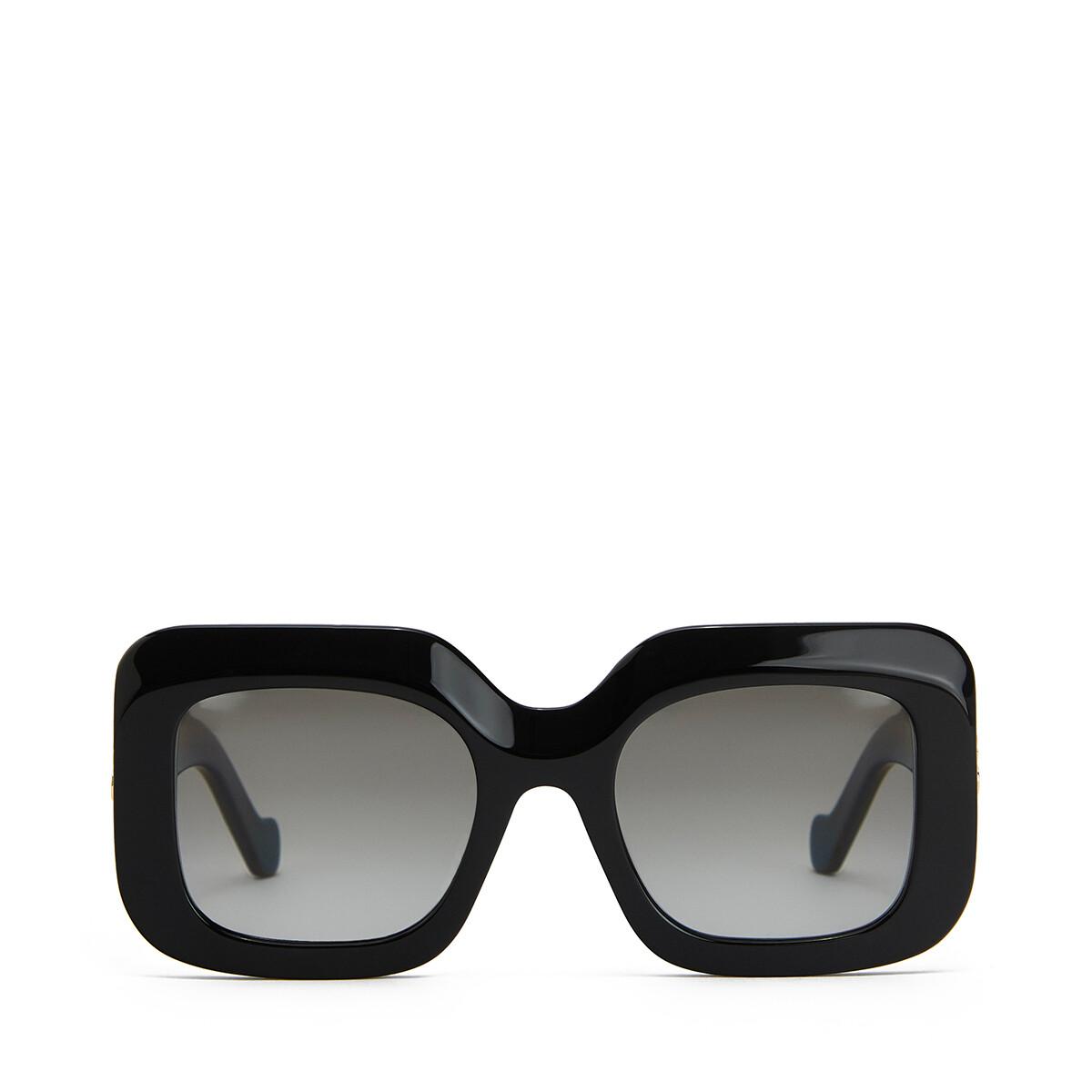 LOEWE Acetate Rectangular Sunglasses 黑色 front