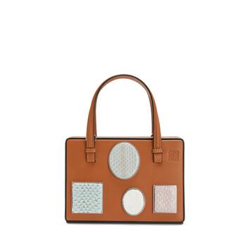 LOEWE Postal Cameo Small Bag 棕褐 front