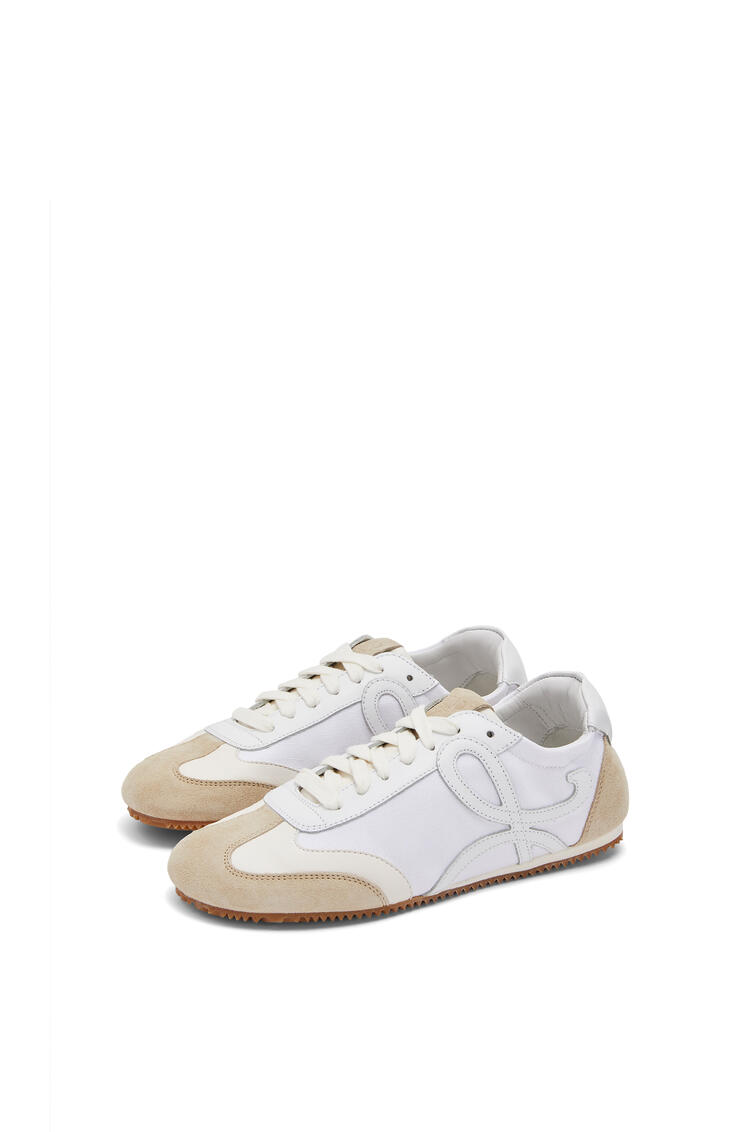 LOEWE Ballet runner in calfskin and cotton White/Off-white pdp_rd